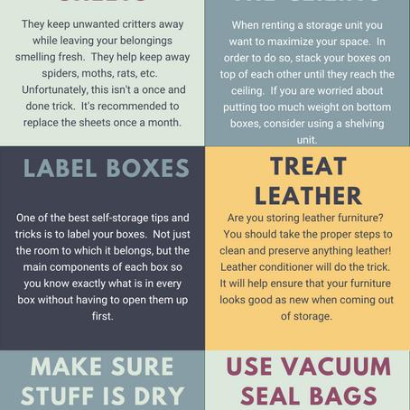 10 Self Storage Tips & Tricks