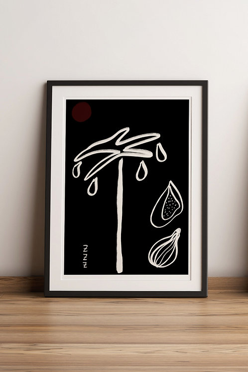 Nap under the fig tree (Print)