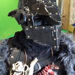 Goblin wearing war helmet