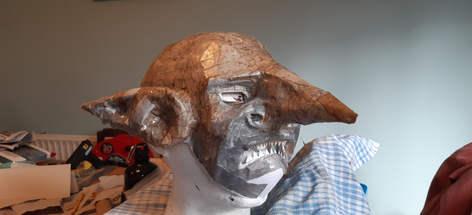 Goblin mask making