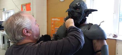 Goblin mask 2 applying the black make up