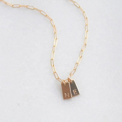 Tag Initial Necklace