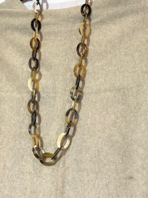 Horn Necklace (small links)