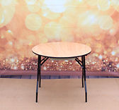 3ft round wooden table