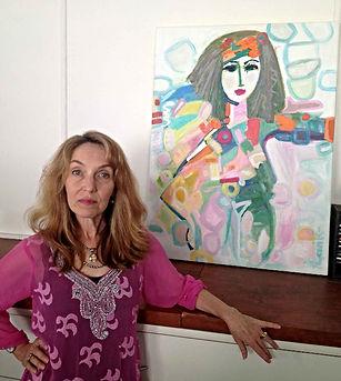 Painting of Deborah Myers, Medical Director, Houston Texas by Leene of Aavik Art