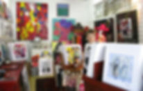 Leene in her gallery - Aavik Art, Eumundi