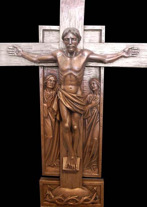 Crucifix - Cast Bronze Finish