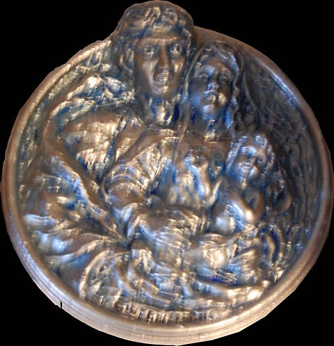 Sculpture Relief - Medallion - Holy Family