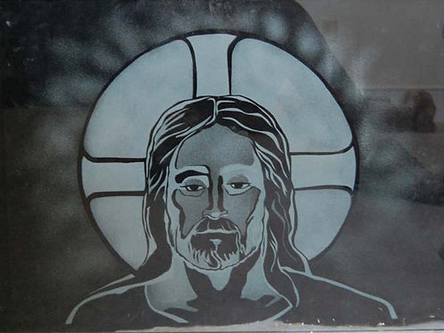 Etched Glass Christ