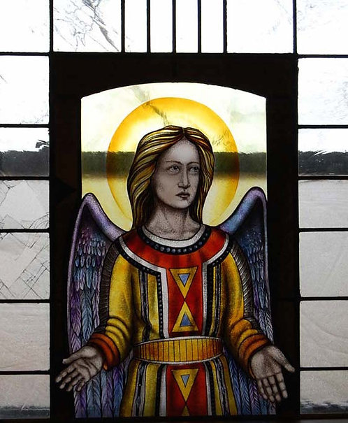 Stained Glass Window Sample - Angel