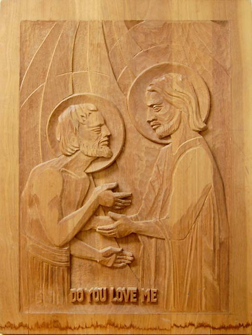 "Wood Carving - ""Do You Love Me"""