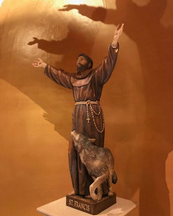 St. Francis of Assisi wood statue