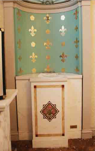 Pedestals - Marble Side Shrine with Mosaics