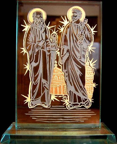 Etched Glass - Saints Peter and Paul