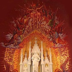 Side shrine mural