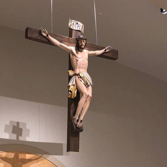 Italian hand-carved crucifix