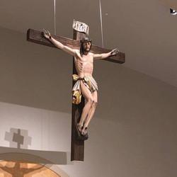 Italian hand-carved crucifix