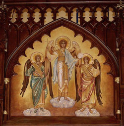 Angel Gabriel Byzantine-style mural