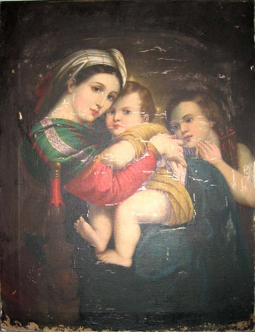 Painting - Blessed Mother and Child