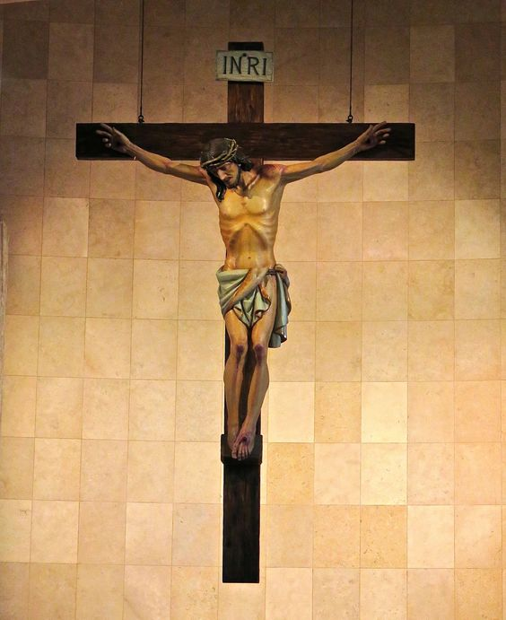 Hand-carved 9' crucifix