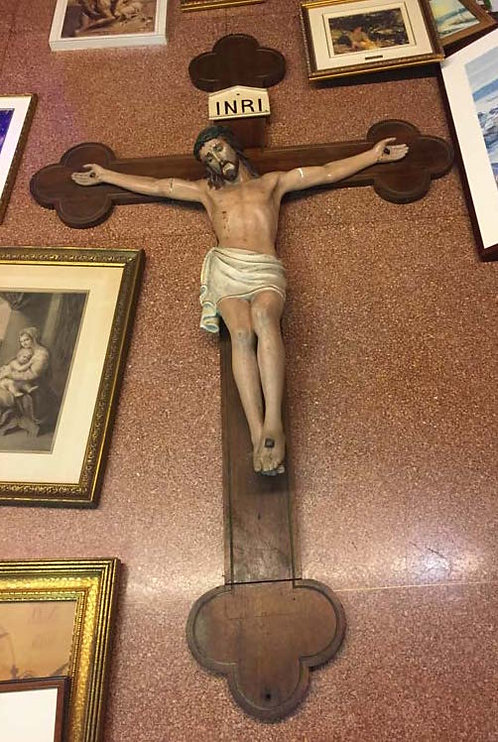Crucifix - Carved Wood with Plaster Corpus