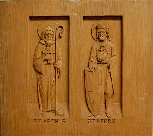 Wood Carving Set - St. Arthur and St. Henry