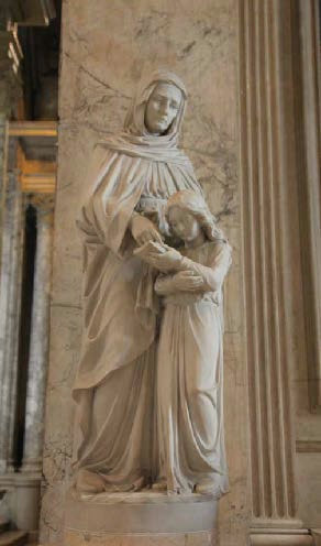 Statue - Saint Anne with Blessed Mother as Child