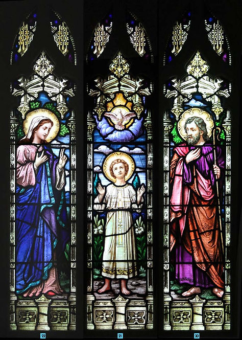 Stained Glass Windows of Holy Family