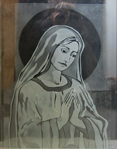 Etched Glass Mary