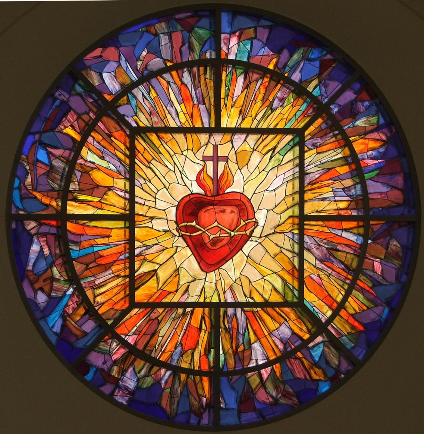 Sacred Heart transept stained glass window
