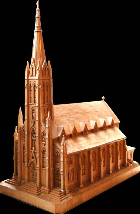 Wood Carving - Church Model