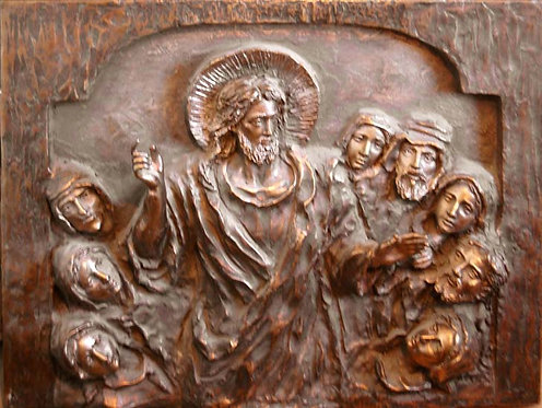 Sculpture Relief Model - Bronze Christ the Teacher