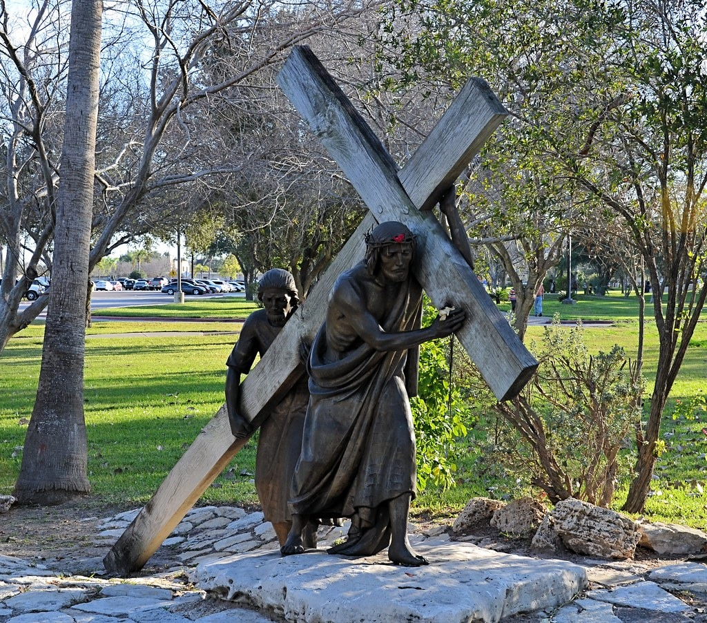 Life-size bronze cast outdoor Stations of the Cross
