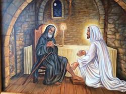 St. Peregrine mural