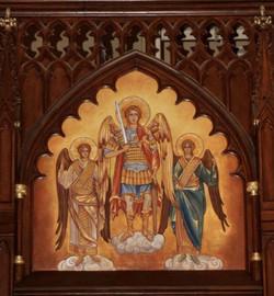 Archangel Michael Byzantine-style mural