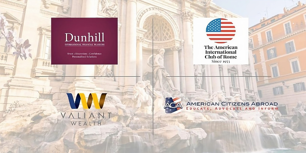 Americans in Italy, Investment and Financial Advice Webinar.