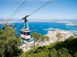 A-cable-car-gondola-over-Gibraltar-Town-