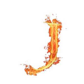 J_letra_de_fuego_diseñoscreativos.com.pn