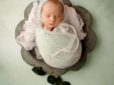 Spring Baby Girl PhotoShoot - Space Coast Newborn Photographer