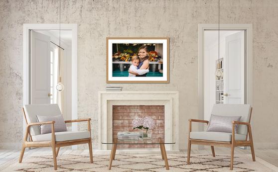 Custom framed artwork