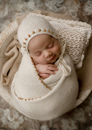 boho newborn girl photo session