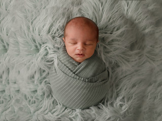 Wrapped Baby Session - Merritt Island Newborn Photographer