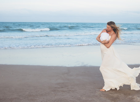 Family and Newborn Photoshoot on the Beach
