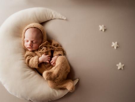 Cozy Neutral Newborn Baby Boy Photo Session - Space Coast Newborn Photographer