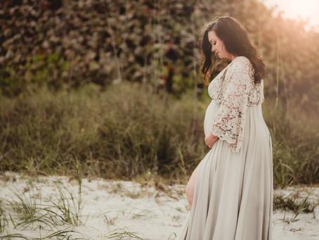 Boho Beach Maternity - Florida Newborn Photographer