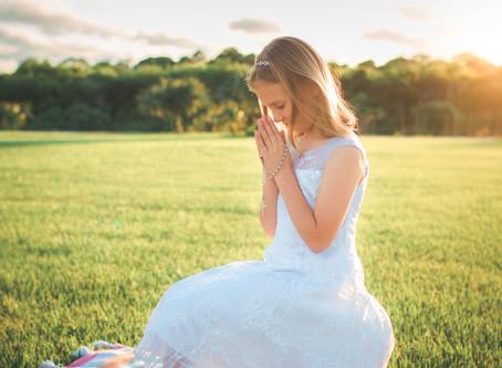 First Holy Communion Photoshoot in Merritt Island