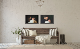 Custom framed newborn artwork