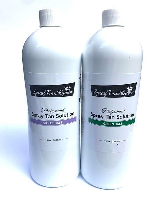 SprayTan Queen Tan Professional Solution - Violet & Green Base Package