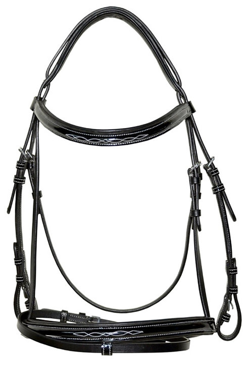 SP Padded Leather Bridle with Flash