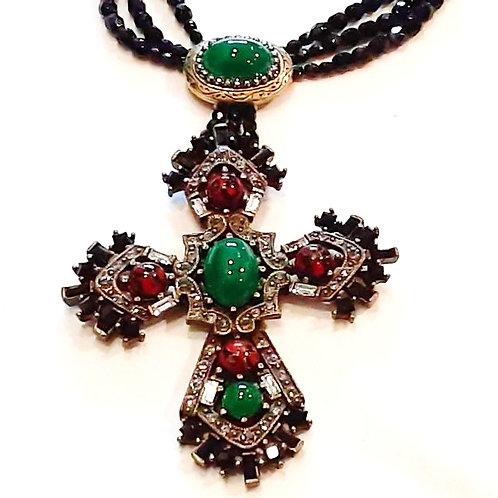 Decorative Cross Necklace